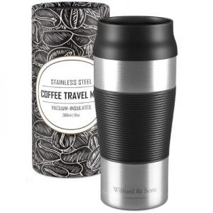 Wilford & Sons - Termo de café para llevar de acero inoxidable 360 ml